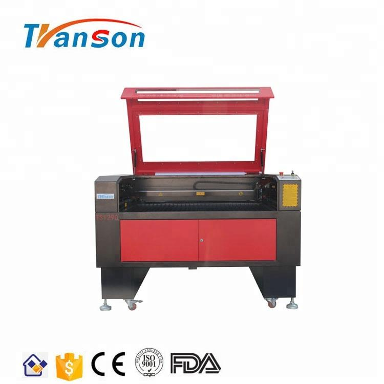 100W CO2 Laser Cutting Engraving Machine TS1290 with EFR F4 Tube used for paper acrylic leather plastic stone glass