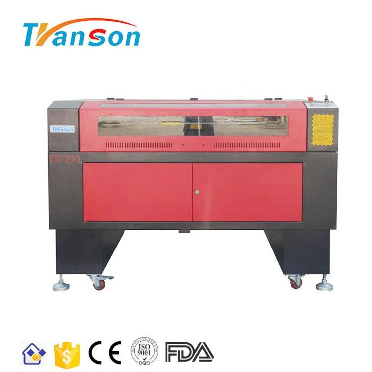 80W CO2 Laser Cutting Engraving Machine TS1290 with EFR F2 Tube used for paper acrylic leather plastic stone glass