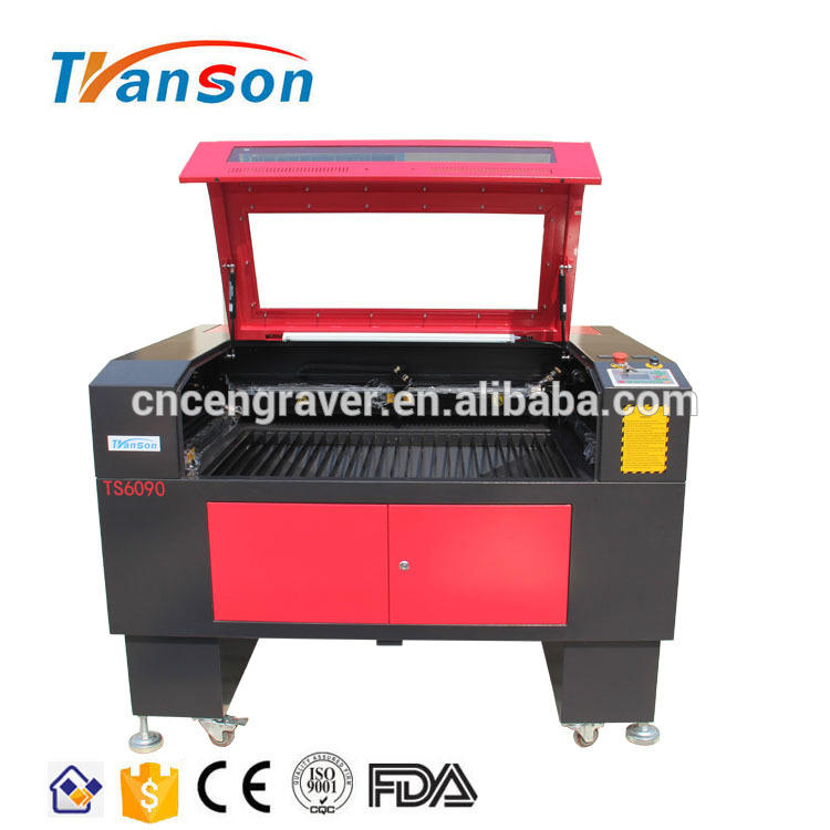 TS6090D Double Head 80W CO2 Laser Engraving And Cutting Machine