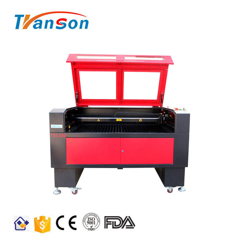 80W Co2 Laser Cutting Engraving Machine TS1390 with Reci W1 Tube used forwood paper acrylic leather plastic stone glass