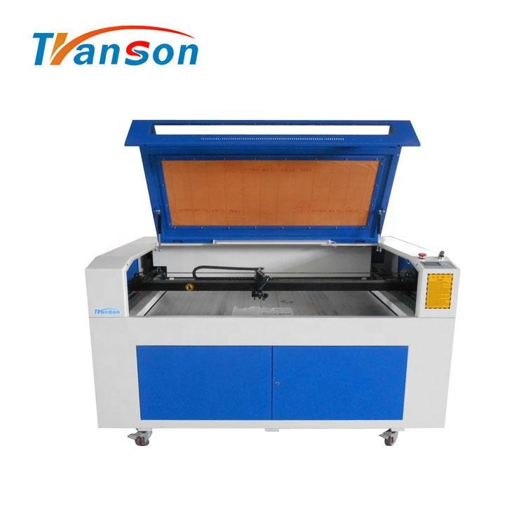 80W CO2 Laser Cutting Engraving Machine TN1290 with EFR F2 Tube used forwood paper acrylic leather plastic stone glass