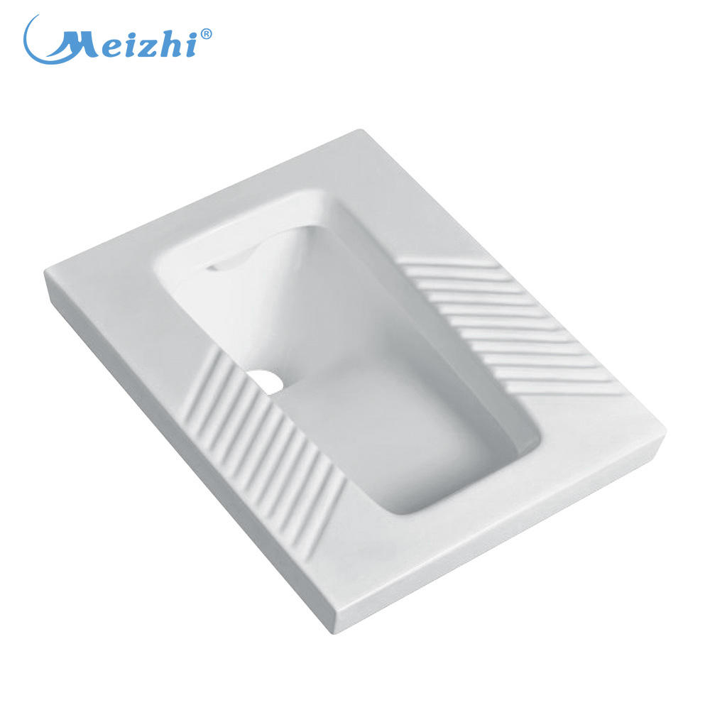 Bathroom ceramic squat toilet with flush