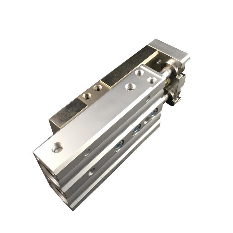 Aluminium MXQ Series Silvery MXQ12-20 MXQ16-40 MXQ25-50 Double Acting Air Slide Pneumatic Cylinder