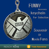 Factory Supply Antique collection marvel toys select marvel keychain round customizable chain