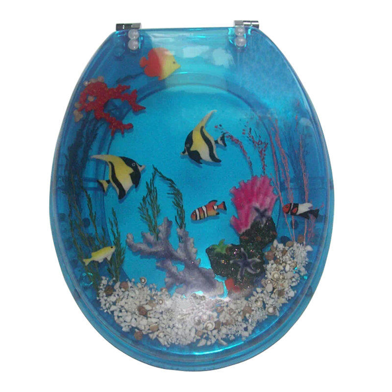 Sea design ceramic toilet seat cover