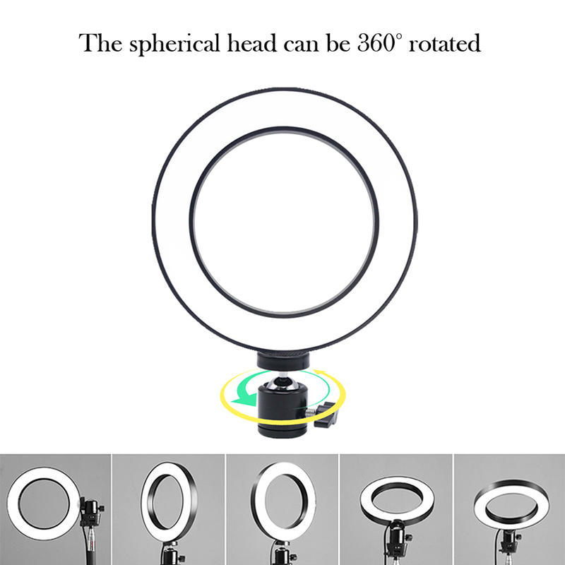 Factory direct sales professional lighting for video studio Dimmable 6 inch LED Ring Light
