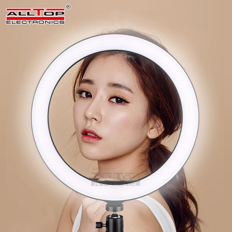 Led camera light selfie Mobile phone stents 2835 LED 120PCS PC ABS Dimmable light ring