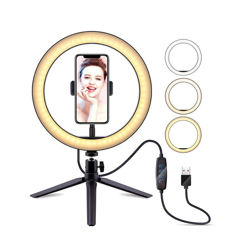 Professional adjusting led lights for photography studio Dimmable LED ring light with tripod stand