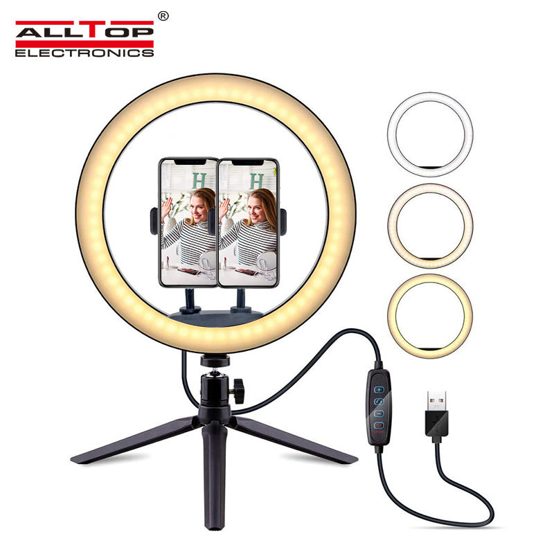 Portable fill light led light photo studio photography video lighting equipment with tripod led circle ring light