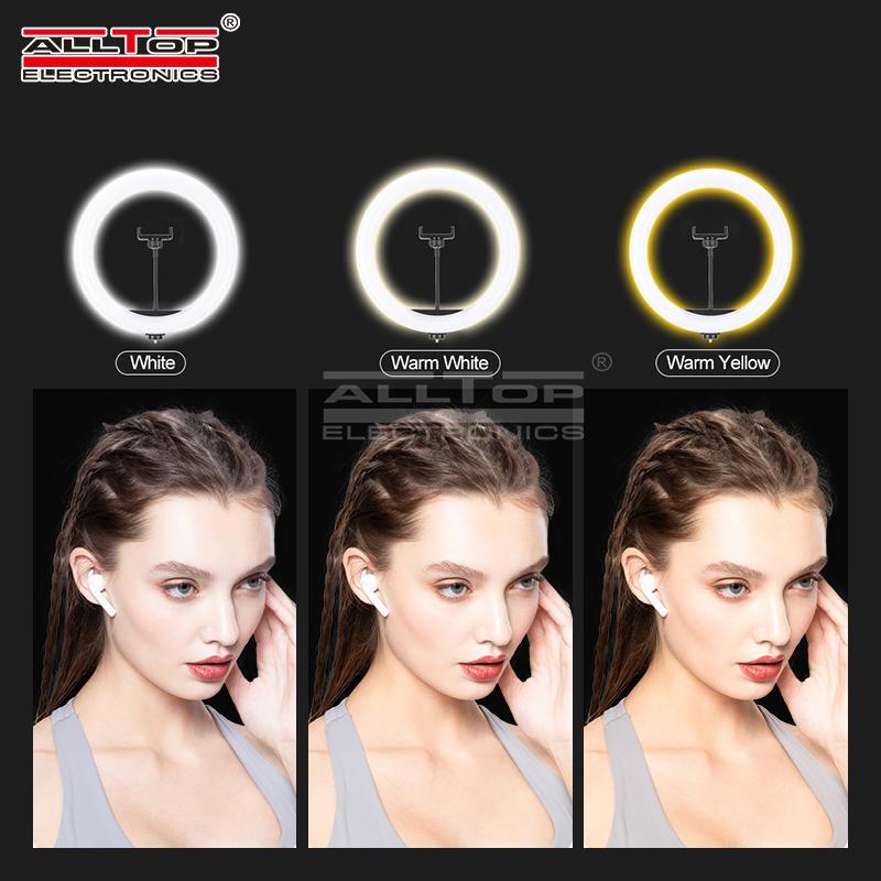 ALLTOP Photography Phone Holder Usb Plug Photo Studio Smartphone Selfie LED Ring Light