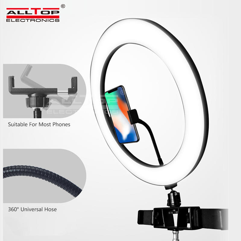 ALLTOP Photographic Light Phone Led Video Ring Light with Tripod Stand Camera Circle Selfie Led Ring Light