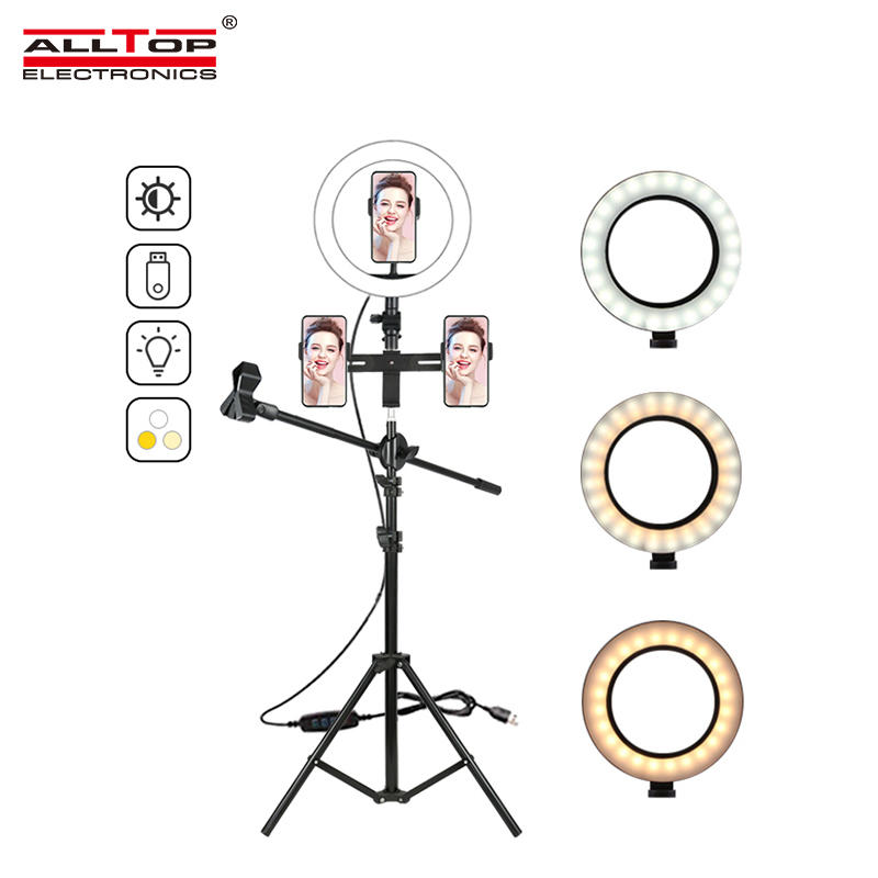 ALLTOP Photography Phone Holder Usb Plug Photo Studio Smartphone Selfie LED Ring Light
