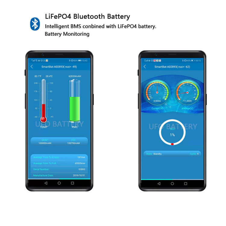 Factory manufacture various bluetooth module lifepo4 lithium battery cell for camping