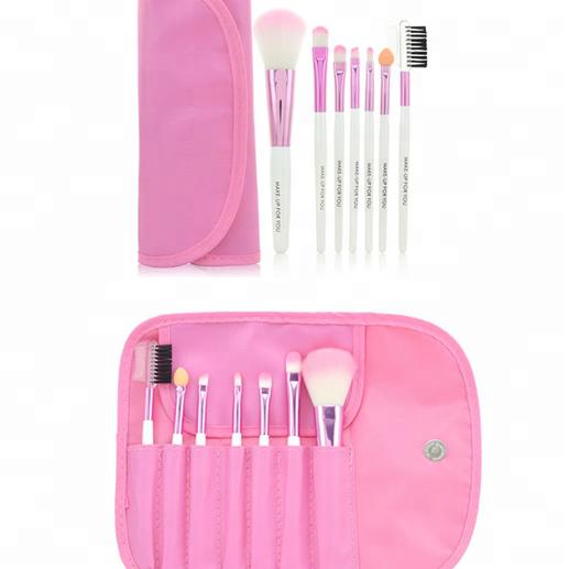 7 pcs original brush makeup with faux leather bag professional make up brush set