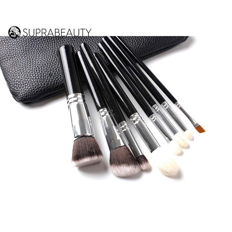 vegan brush hair wholesale custom logo light blue mini makeup brushes