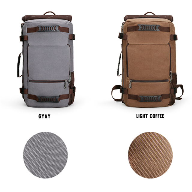 product-Osgoodway New Design Large Capacity Men Canvas Leather Hiking Backpack for Camping Picnic-Os-1