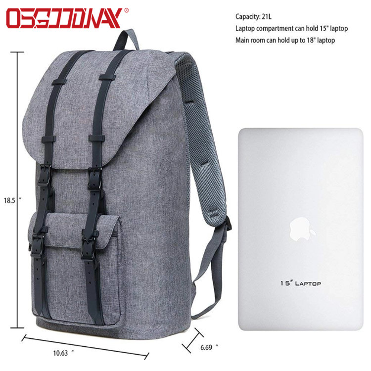 product-Osgoodway-Osgoodway Large Casual Linen Oxford Fabric Travel Hiking Outdoor Backpack Fits 15