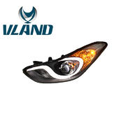 VLAND factory Wholesale price for car front lamp for Auto lamp 2012 2013 2014 2015 Elantra Headlight led modified projector lens