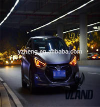 VLAND factory accessory for car Headlight for Elantra 2012-UP with demon eyes + Led DRL