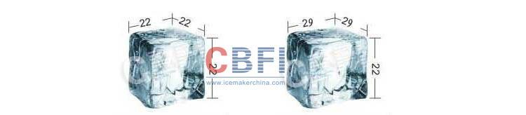 SUS 304 material cube ice machine making maker