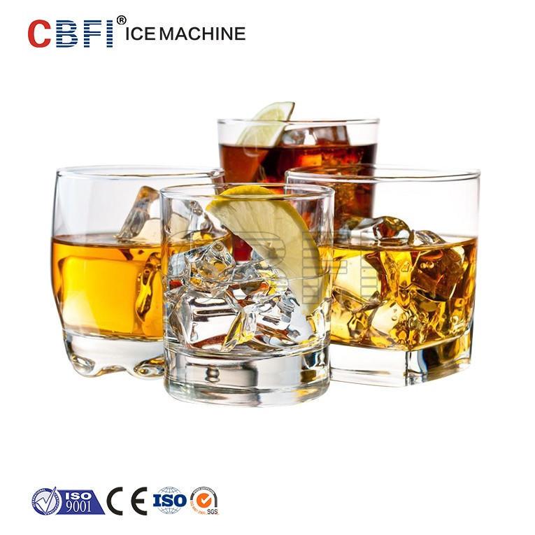Guangzhou CBFI CV5000 Cube ice machine with semi auto packing ice bin