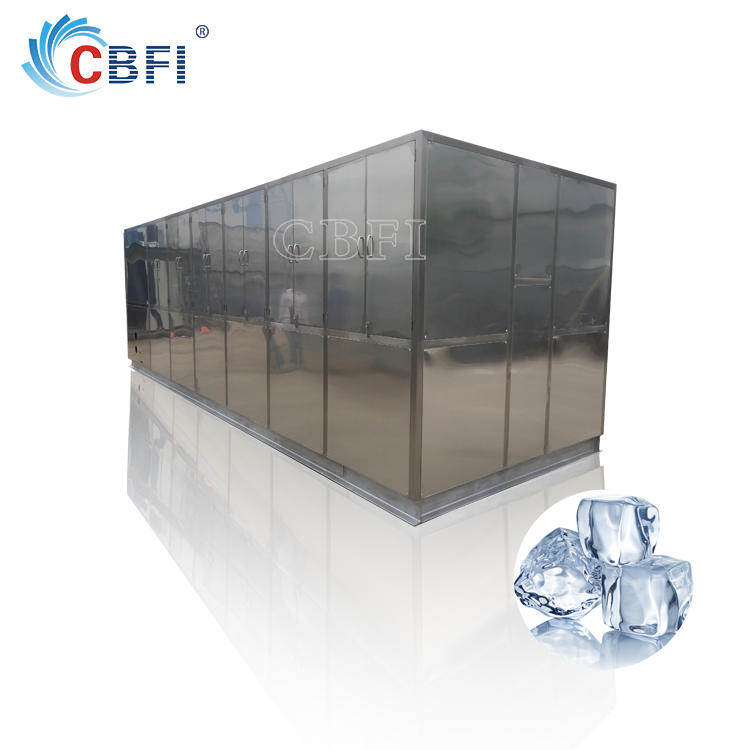 Large ice cube maker cheap with ice storage bin from 1ton to 20tons