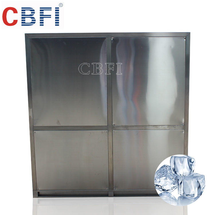 5000kg/day industrial ice cube making machine for coffee shop and supermarket with automatic packing system