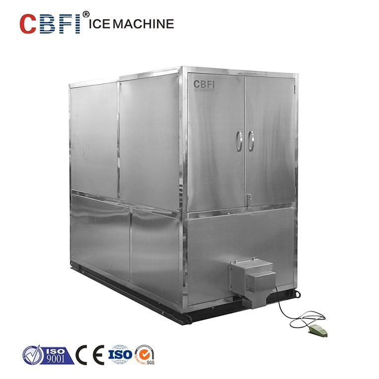 1 2 3 ton customized big clear crystal commercial automatic water cooling square ice cube maker plant ice cube making machine