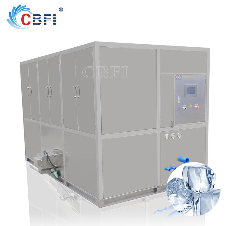 industrial ice cube machine with ice storage bin