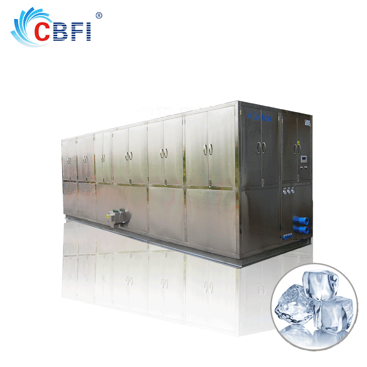 Guangzhou Icesoure cube ice Maker with ice bin stainless steel 304