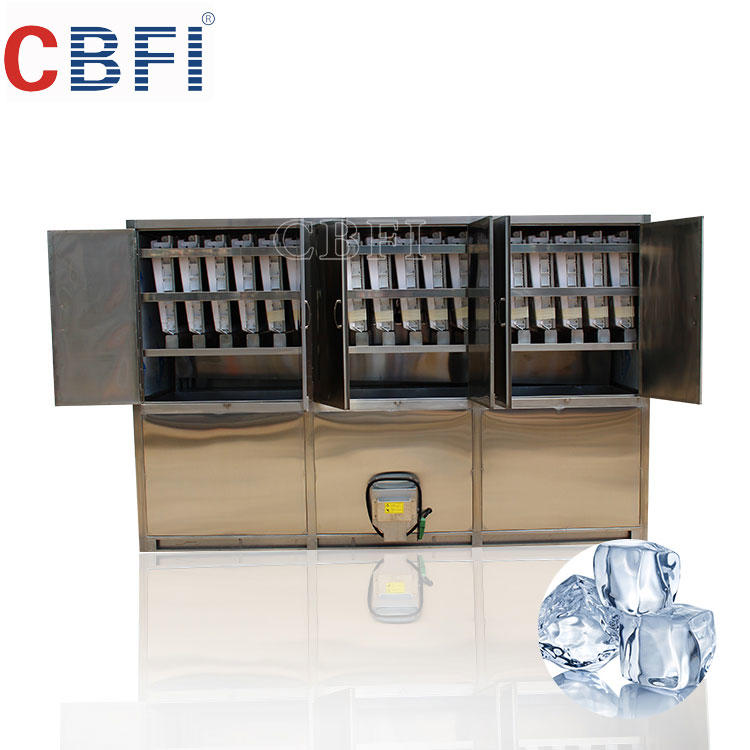 Guangzhou CBFI CV5000 Cube ice machine with semi auto packing ice bin