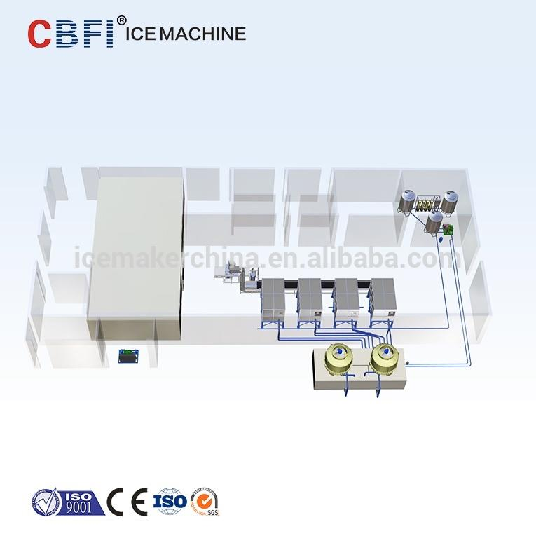 Automatic 20 tons Ice Cube Making Machine Plant Factory