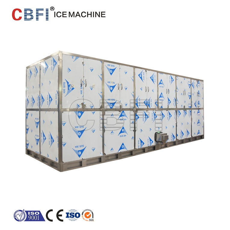 10Ton/24h cube ice machine CV10000 Cube Ice Maker With PLC Controller
