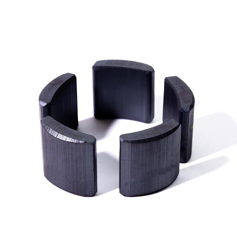 Professional manufacturer multi purpose custom order arc ferrite magnet for motor