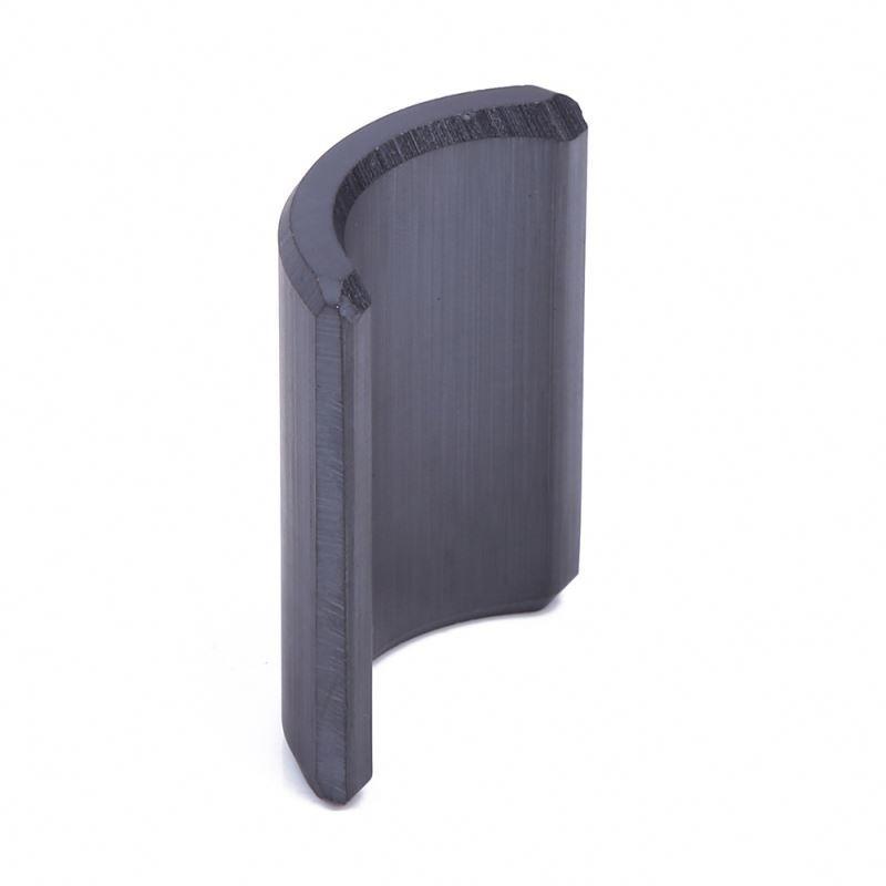 New wholesale custom large curved Y35 arc ferrite magnet new type ferrite magnet
