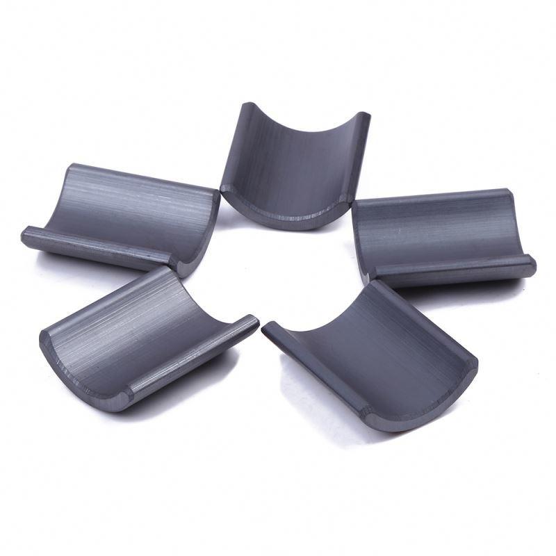 Manufacturer wholesale fine quality arc shape y33 ferrite magnetic tile