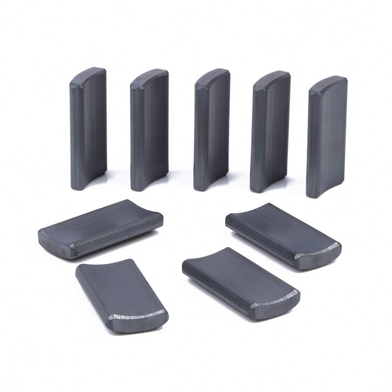 China manufacturer Y35 permanent arc ferrite magnet for Electric drive motors