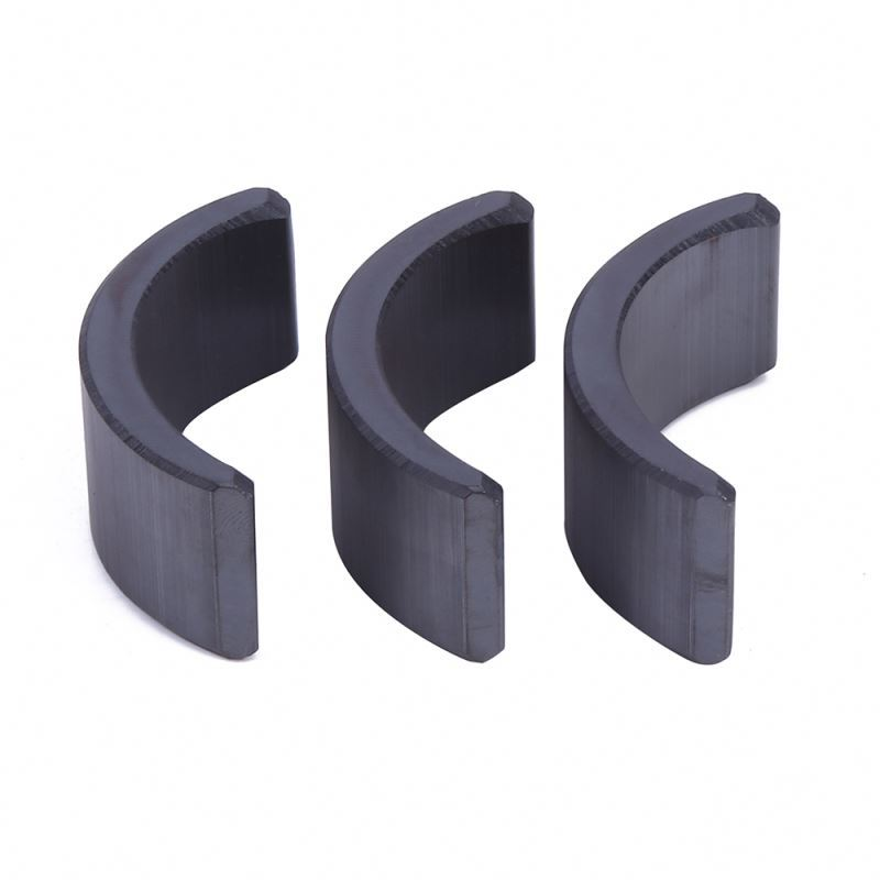 China custom good quality anti-interference ceramic arc ferrite tile magnet for motor
