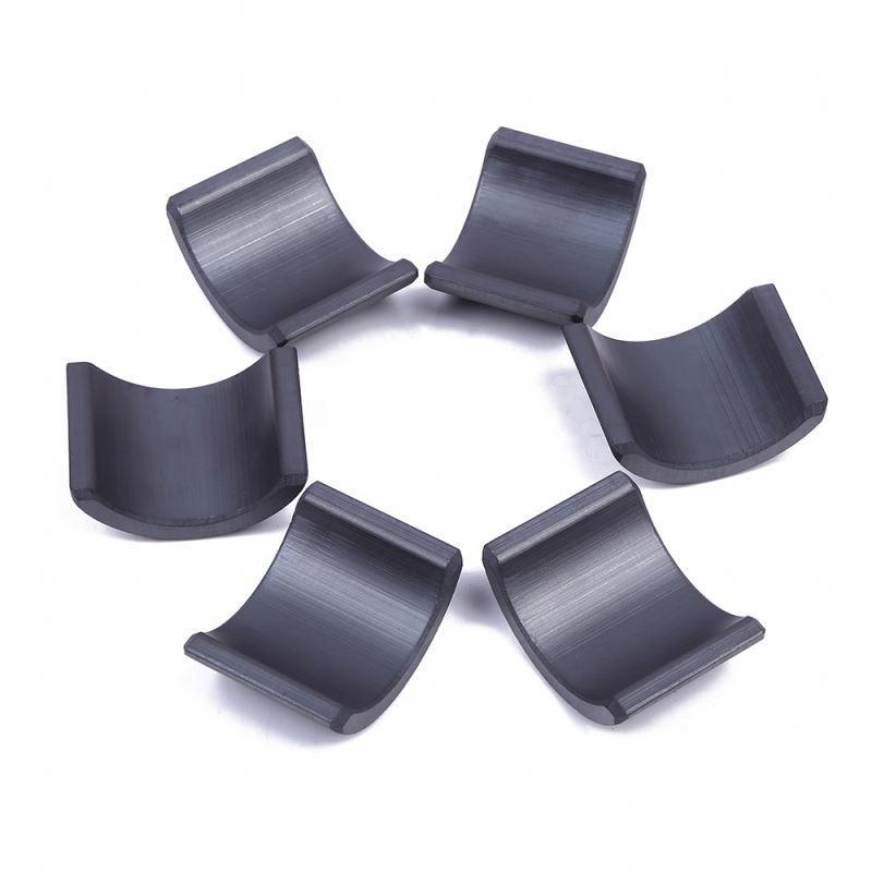 Wholesale china supplier ferrite arc generator magnet ceramic tile shape magnet