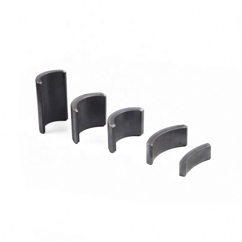 Widely use automobile door window motor customized size arc segment tile ferrite magnets