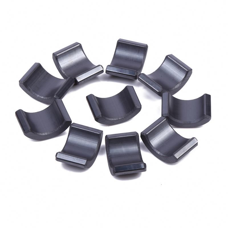 Low speed permanent tile shaped magnet generating arc electric motor magnets