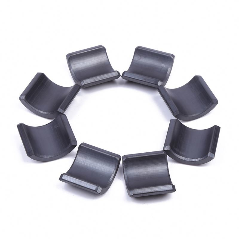 High power ferrite arc magnet motor epoxy coated strong hard powerful magnets