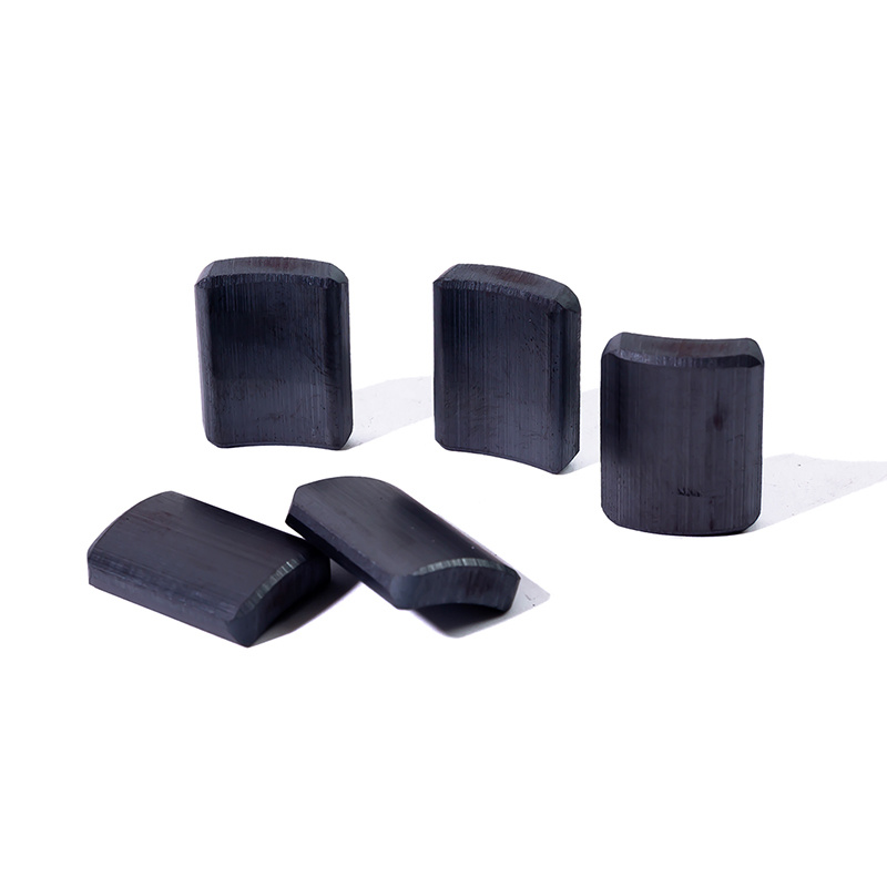 Factory direct selling custom order high quality arc shape ferrite magnet for speakers