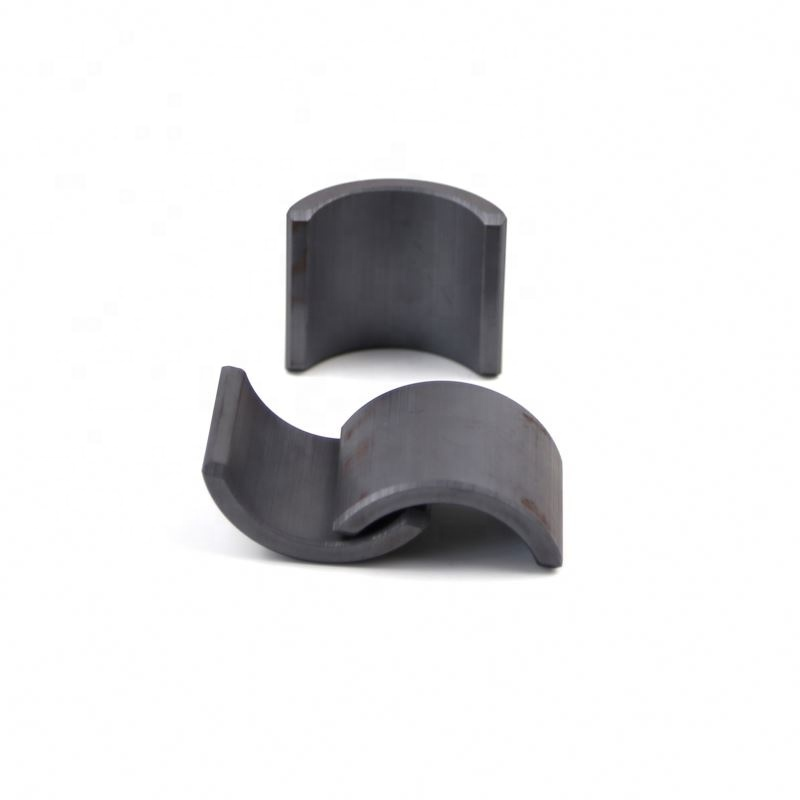 Factory super quality arc tile shaped ferrite permanent sintered magnets