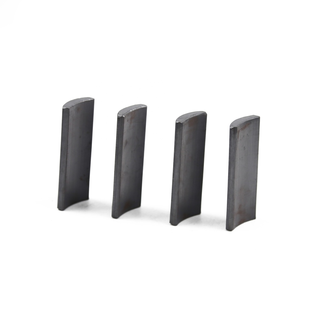 Factory main product electronic accessories sintered arc shape segment tile ferrite magnets