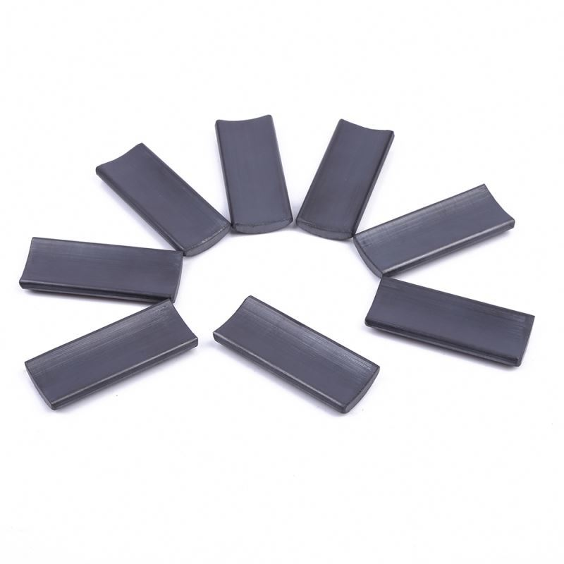 Best selling Industrial Application Motors ferrite generator permanent magnet arc ceramic curve magnet
