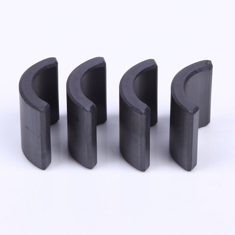 Latest wholesale fine quality Segment turbine arc ferrite magnet isotropic ferrite magnet