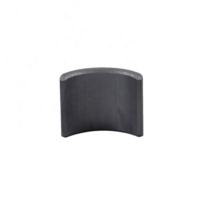 Wholesale motor electric fan industrial use bulk block magnet ferrite arc magnet