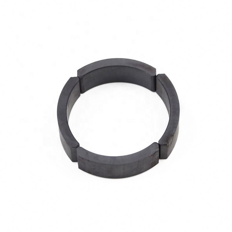 Wholesale sintered arc shape segment tile small ferrite magnets custom size magnet
