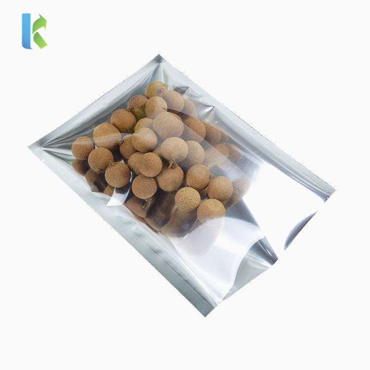 Heat Seal Flat 3 Sides Sealed Mylar Open Top Packaging Bags Food Storage Pouch SilveryAluminum Foil Vacuum Bag